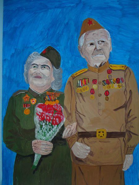 рисунки для ветеранов 9 мая